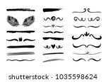 hand drawn borders  brackets ... | Shutterstock .eps vector #1035598624