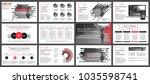 business presentation slides... | Shutterstock .eps vector #1035598741