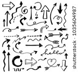 collection of hand drawn arrows ... | Shutterstock .eps vector #1035604987