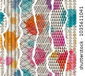 seamless pattern with elements... | Shutterstock .eps vector #1035611041