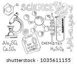 hand drawn cartoon background...   Shutterstock .eps vector #1035611155