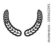 laurel wreath design | Shutterstock .eps vector #1035612391