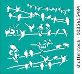 birds stencils art | Shutterstock .eps vector #1035615484