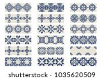 collection 1  indigo blue... | Shutterstock .eps vector #1035620509