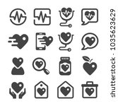health icon set | Shutterstock .eps vector #1035623629