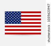 flag united states icon | Shutterstock .eps vector #1035623947