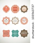 vintage label style with nine... | Shutterstock .eps vector #103563737