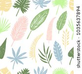 seamless pattern of hand drawn... | Shutterstock .eps vector #1035637894