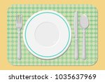 cutlery on the table  table... | Shutterstock .eps vector #1035637969