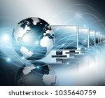 best internet concept of global ... | Shutterstock . vector #1035640759