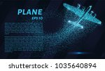 the plane of the particles. the ... | Shutterstock .eps vector #1035640894