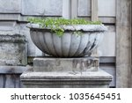 front view of round carved... | Shutterstock . vector #1035645451