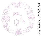 foods rich in vitamin pp. beans ...   Shutterstock .eps vector #1035651064