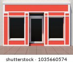 small orange shopfront   modern ... | Shutterstock . vector #1035660574
