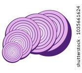 sliced onions. purple vegetable....   Shutterstock .eps vector #1035661624