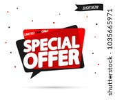 special offer  sale speech... | Shutterstock .eps vector #1035665971