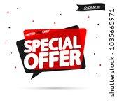 special offer  sale speech...   Shutterstock .eps vector #1035665971