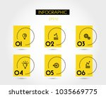 six infographic elements with... | Shutterstock .eps vector #1035669775