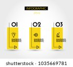 three infographic options with... | Shutterstock .eps vector #1035669781