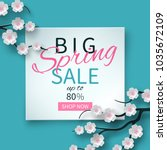 spring sale floral banner with...   Shutterstock .eps vector #1035672109
