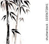 bamboo in chinese style.... | Shutterstock . vector #1035672841
