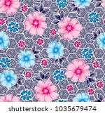 flowers and daisies with...   Shutterstock .eps vector #1035679474
