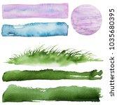 watercolor abstract textures   Shutterstock . vector #1035680395