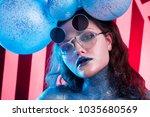 young attractive girl in art... | Shutterstock . vector #1035680569