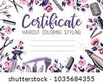 hair cut and rose flower....   Shutterstock .eps vector #1035684355