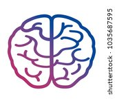 human brain icon image | Shutterstock .eps vector #1035687595