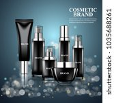luxury realistic cosmetic ads... | Shutterstock .eps vector #1035688261