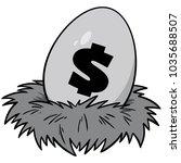 nest egg illustration   a...   Shutterstock .eps vector #1035688507