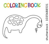 cute dino coloring book. | Shutterstock .eps vector #1035688531
