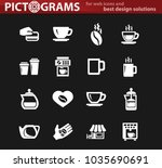 coffee vector white icons for... | Shutterstock .eps vector #1035690691