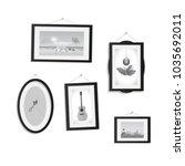 illustration of hanging frames... | Shutterstock .eps vector #1035692011