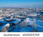 snowy aerial view of kent uk   Shutterstock . vector #1035693769