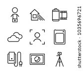 icons camera with cloudy day ... | Shutterstock .eps vector #1035696721
