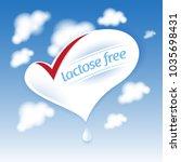 lactose free natural fresh milk ... | Shutterstock .eps vector #1035698431