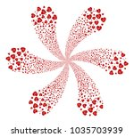 cardiology explosion abstract... | Shutterstock .eps vector #1035703939