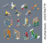 home repair isometric icons set ... | Shutterstock .eps vector #1035704779