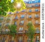 Small photo of Paris. Typical architectural details of houses of the XIX century