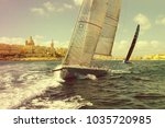 sailing yacht race. yachting.... | Shutterstock . vector #1035720985