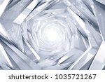 abstract technology round... | Shutterstock . vector #1035721267