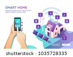 smart home. concept of house... | Shutterstock .eps vector #1035728335