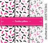set of seamless patterns with...   Shutterstock .eps vector #1035732361