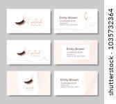 branding for salon eyelash...   Shutterstock .eps vector #1035732364