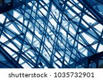double exposure photo of glass... | Shutterstock . vector #1035732901