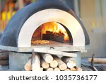 oven for bake or cook pizza ... | Shutterstock . vector #1035736177