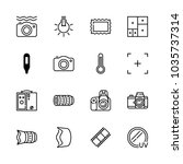 icons camera with picture... | Shutterstock .eps vector #1035737314