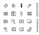 icons camera with multiple... | Shutterstock .eps vector #1035737695